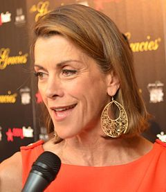 Wendie Malick is an American actress and former fashion model, known for her roles as Judith Tupper Stone on the HBO series Dream On (1990–1996), Nina Van Horn on the NBC sitcom Just Shoot Me! (1997–2003) and Ronee Lawrence on the NBC sitcom Frasier (2003–2004).  Malick plays Victoria Chase on the TV Land sitcom Hot in Cleveland.