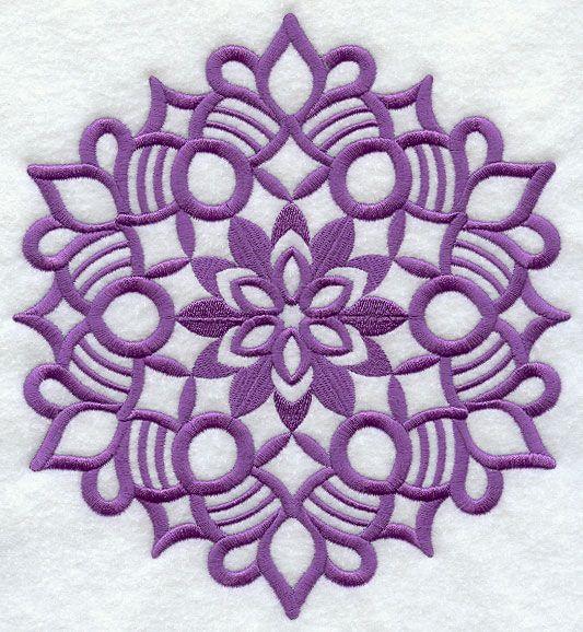 Wycinanki-style embroidery