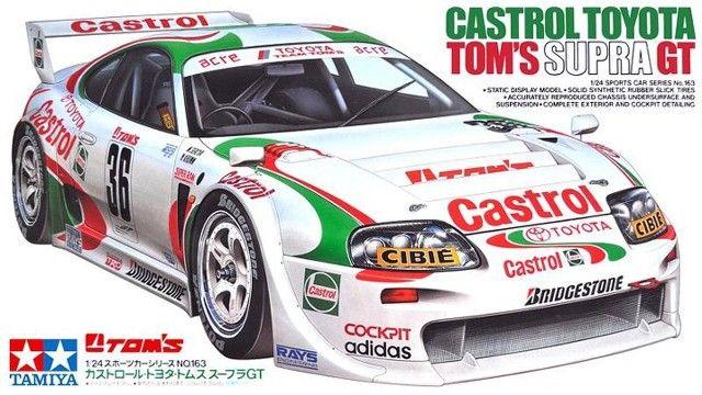 Boxart Toyota Tom's Supra GT 24163 Tamiya