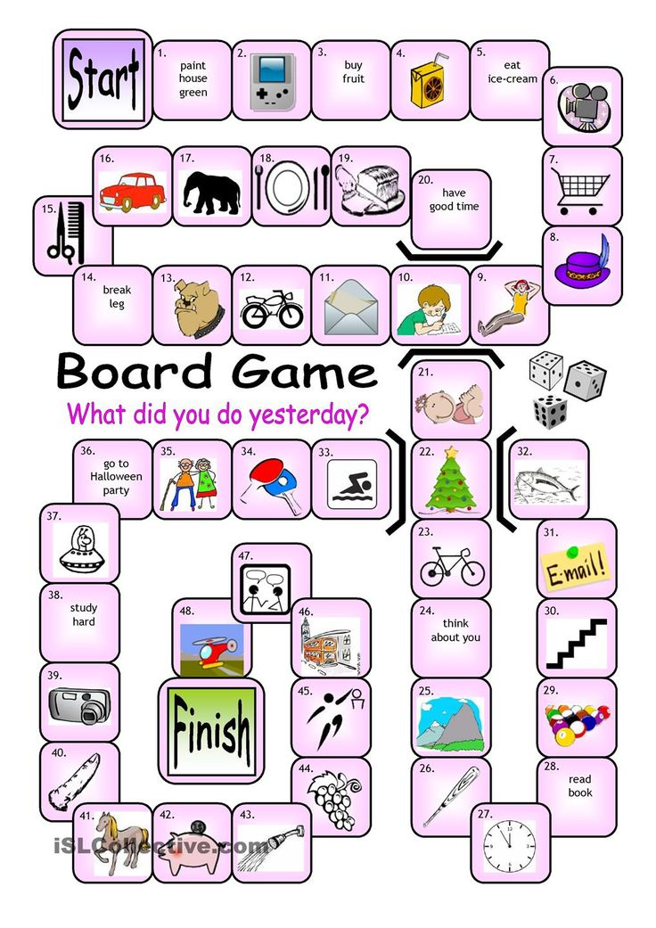 Board Game - What did you do yesterday?