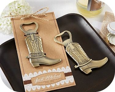 order Cowboy Boot Bottle Opener Favors - Country Wedding Favors