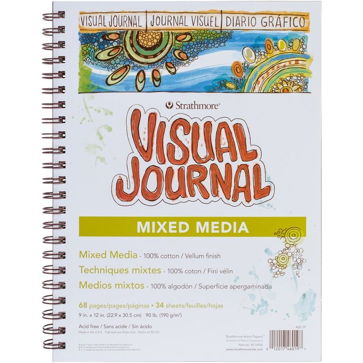 Amazon.com: Strathmore Visual Journal Spiral Bound, 9 By