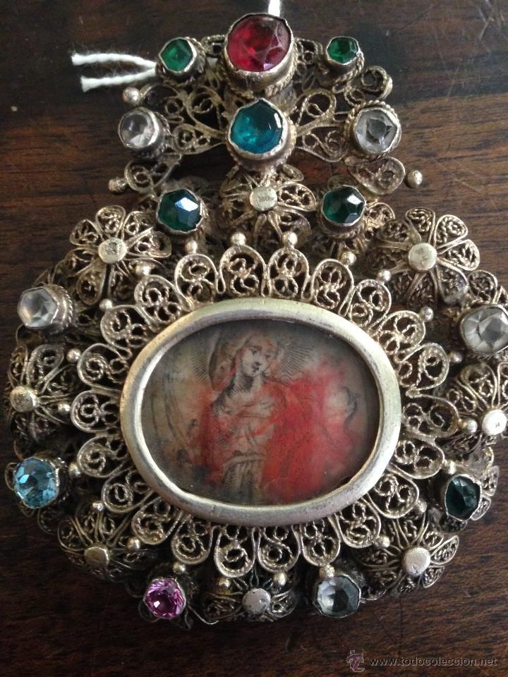 relicario de plata siglo XVII - Foto 1