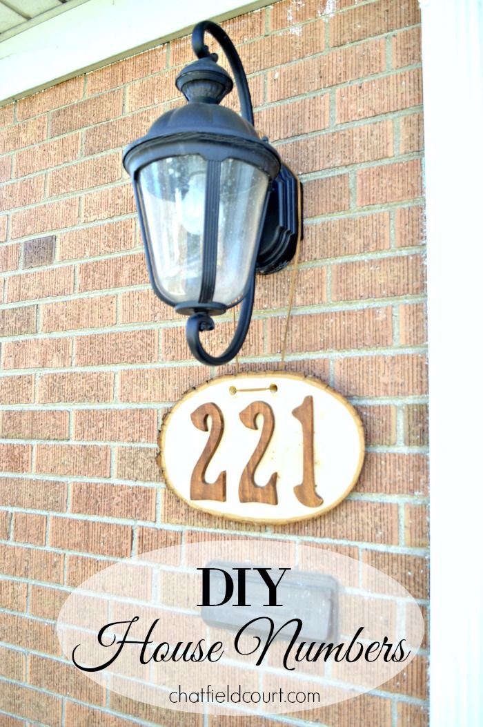 Diy house numbers pinterest