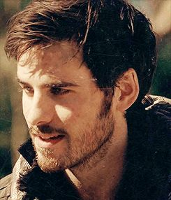"""Colin O'Donnoghue as Captain Hook winking from the TV Show """"Once Upon A Time""""."""