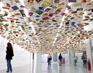 for the Beit team! book ceiling, art installation                                                                                                                                                                                 More