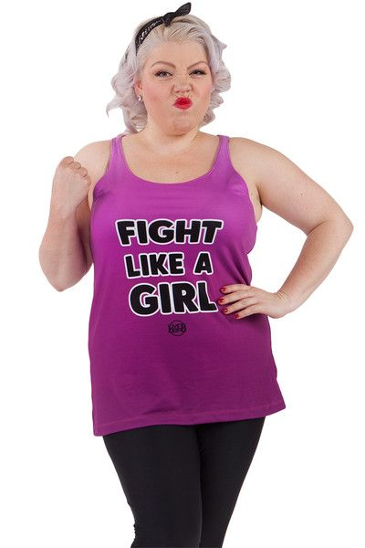 Fight Like A Girl Inspirational Tank - $39.00 AUD