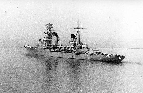 Cruiser Kirov near Riga 1941 minelaying