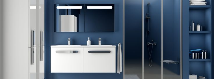What about colours in bathroom? Do you like this blue one? #design #homebuilding #home more @ http://www.ravak.com/