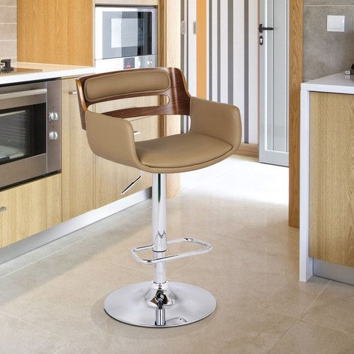Found it at Wayfair.ca - Bentwood Adjustable Height Bar Stool with Cushion