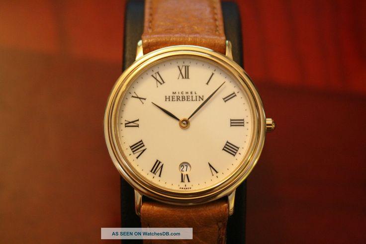 michelle herbelin watches | Michel Herbelin 19441 Quartz Gentleman ' S Watch. Excellent photo 1