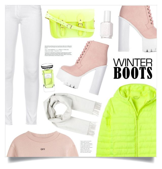 """""""Cool Winter"""" by marina-volaric ❤ liked on Polyvore featuring Off-White, rag & bone, Brioni, The Cambridge Satchel Company, By Terry, Essie and winterboots"""