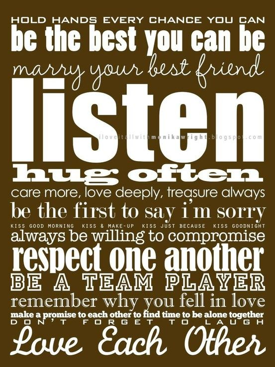 relationship & life advice: Words Of Wisdom, Lovequot, Remember This, Best Friends, Subway Art, Happy Marriage, Marriage Advice, Love Quotes, God Wife