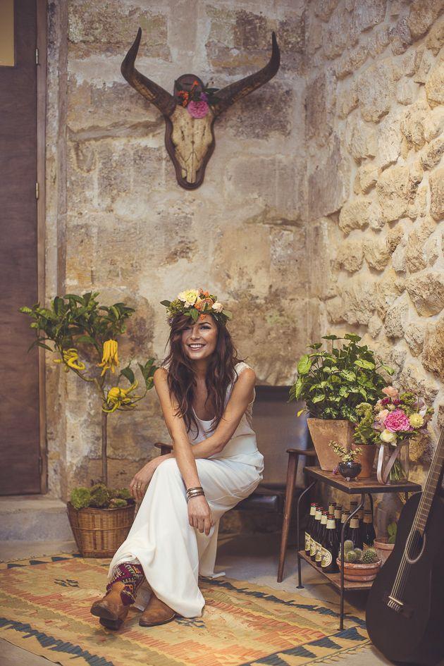 bohemian wedding. Cool Boho Bride   Camille Marciano for Junophoto   Bridal Musings Wedding Blog 42