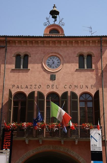 Alba, Piedmont, Italy - Piazza Risorgimento, (Town Hall)