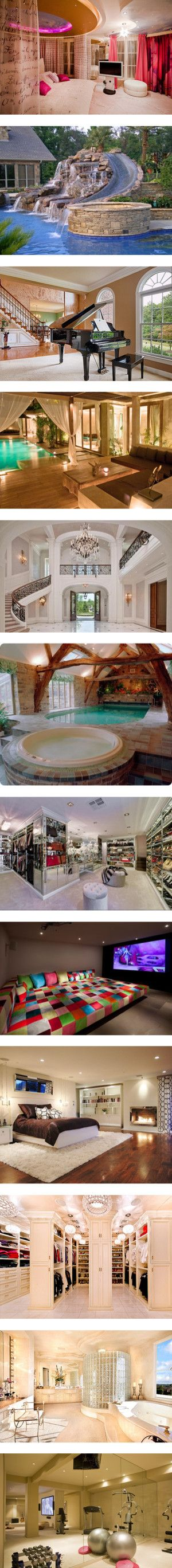 Every one of these rooms would be in my house...if only I had the money!!