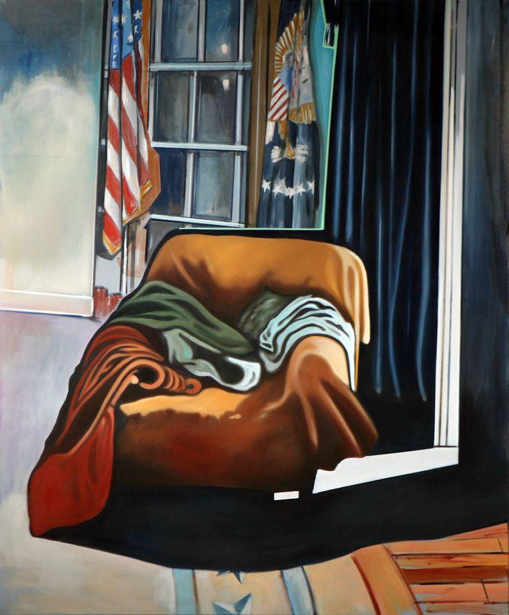 """Lewinsky´s visit"" Rudi Cotroneo 180x150cm Oil on canvas"