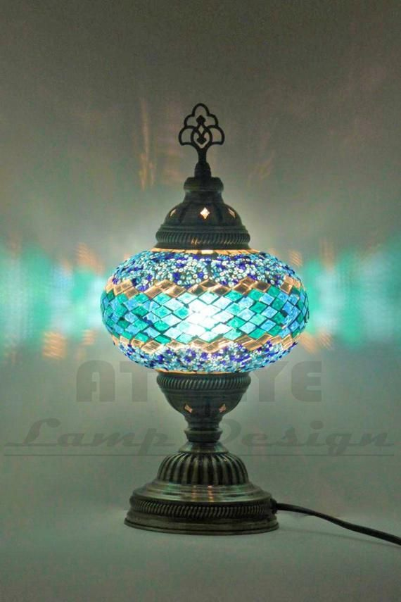 Best Selling Turkish Moroccan Glass Mosaic Table Bedside Lamp Lamps Light
