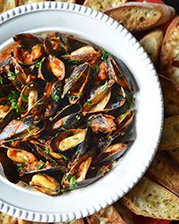 Mussels Fra Diavalo Recipe on Food & Wine