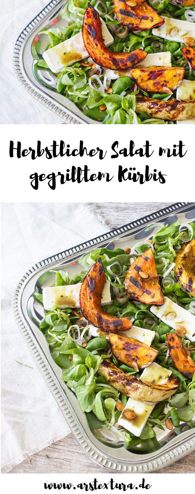 Hallo Herbst – Heute gibt's Salat mit gegrilltem Kürbis