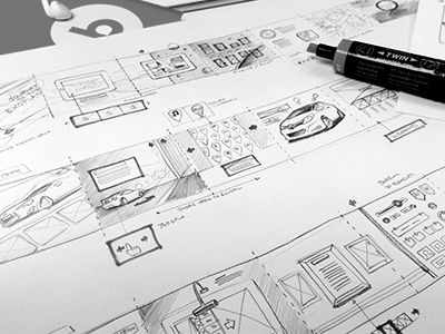 Layout Sketches  by Andrew Edwards #wireframe #wireframes
