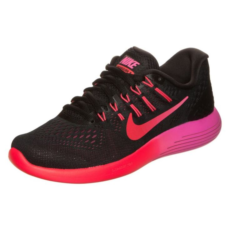 #Nike #Lunarglide #8 #Laufschuhe #Damen #schwarz / #rot / #pink -