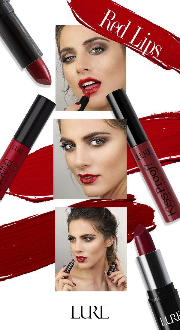 Labios Rojos Para Cada Ocasion Rojos Intensos Obscuros O Cobrizos En Www Lurecosmetics Com Podras Encontrar Una Rojo Intenso Tiendas De Cosmeticos Cobrizo