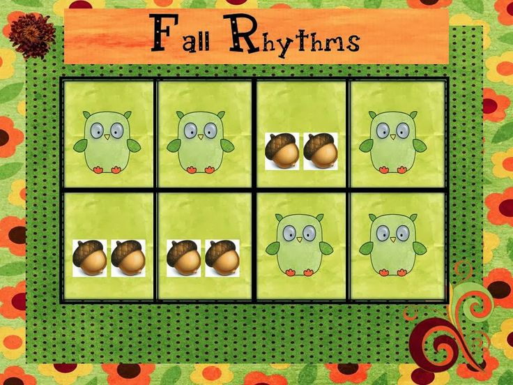 O For Tuna Orff: Fall Rhythms Activity for Kindergarten/First Grade