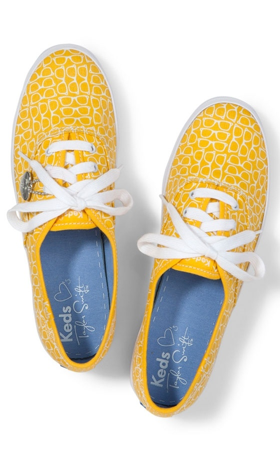 Taylor Swift For Keds Champion Yellow Heart Pumps, £45