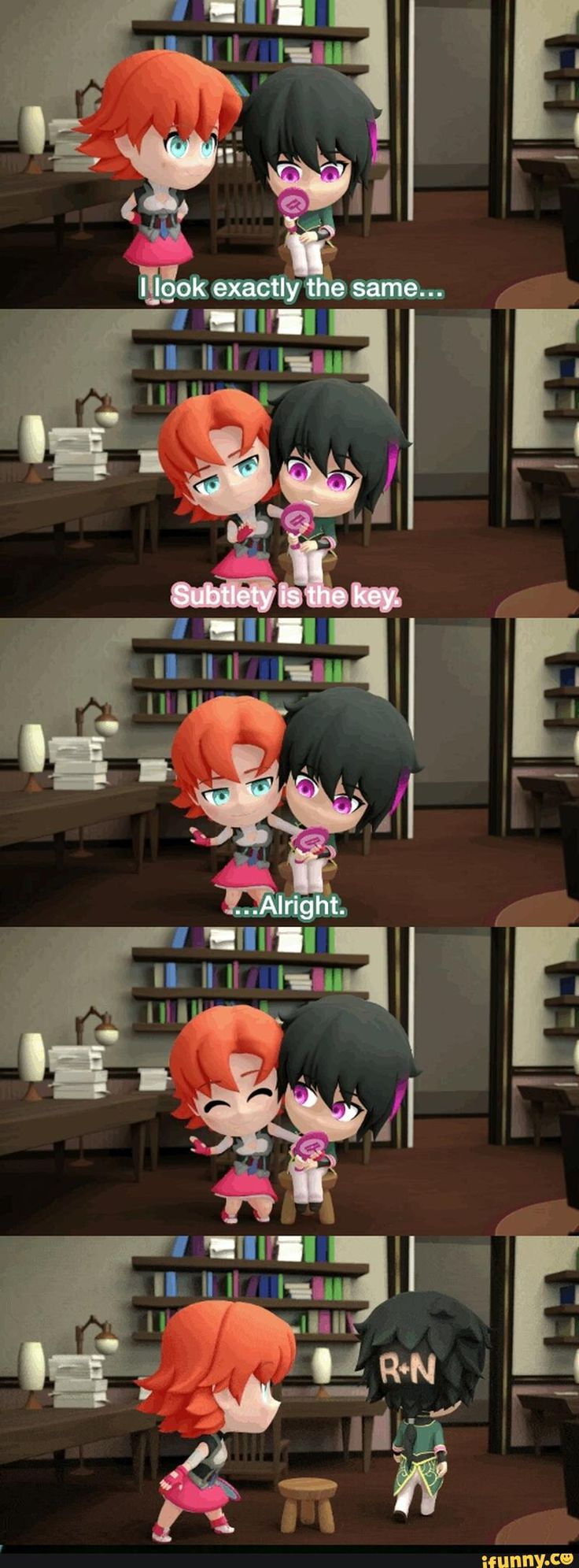 Rwby, Nora, Ren. I laughed so hard at this point!♡ ah~ I love it.