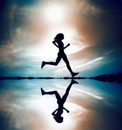Running.  Because we have to keep moving.  We have to...