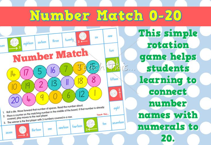 Number Match – Numeral and word to 20