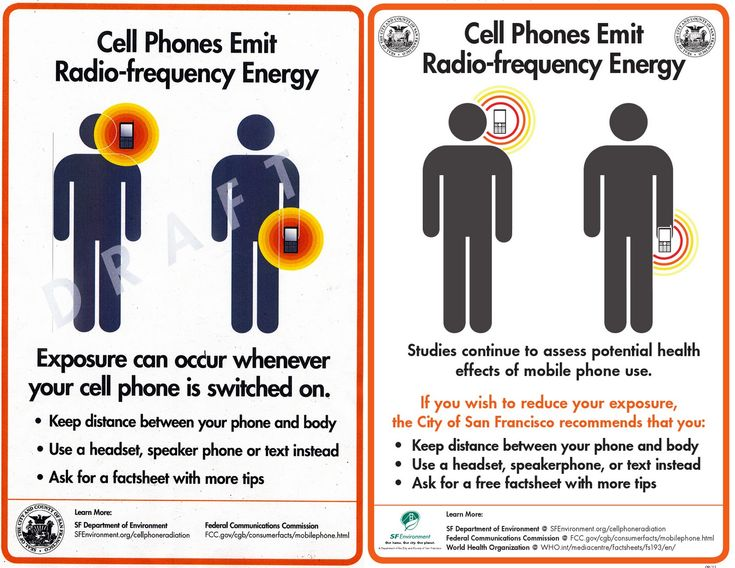 Cell Phone Radiation warning posters