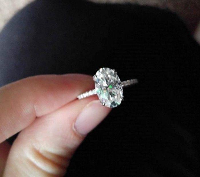 056a19ef6 11x7 Harro Gem Oval Moissanite & Diamond Engagement Ring 14K White Gold by  Juwannashop | Juwannashop's Jewelry for Sale at Bonanza.com in 2019 |  Engagement ...