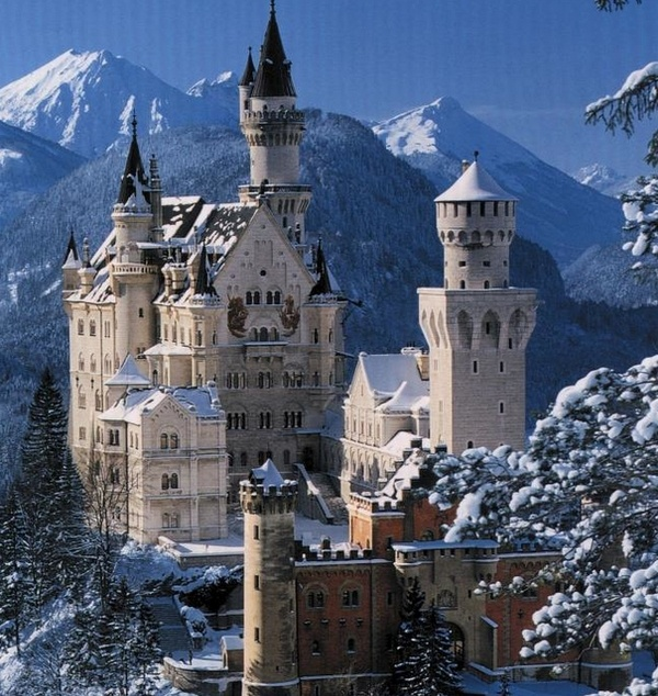Visit the the inspiration for Cinderellas Castle. Neuschwanstein Castle, Bavaria, Germany
