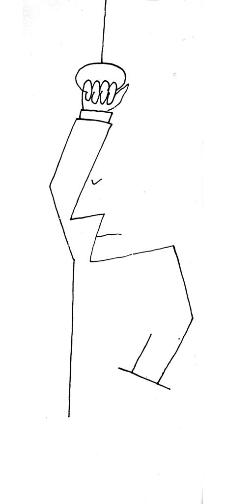 Saul Steinberg Lámina imprimible Hombre en autobús
