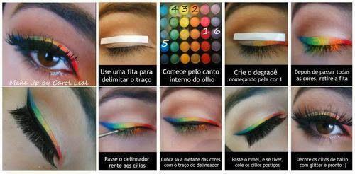Tutorial de Maquillaje Ojos Arcoiris Paso a Paso (Makeup Eye Rainbow) : Maquillaje, Belleza y Moda para la Mujer
