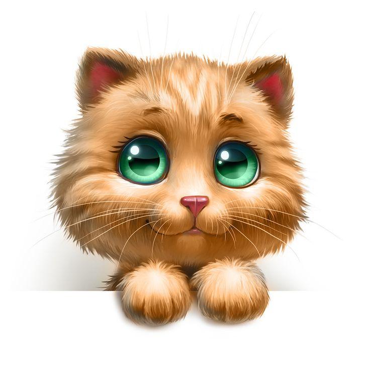 Картинки кошки прикольные для детей, поздравление