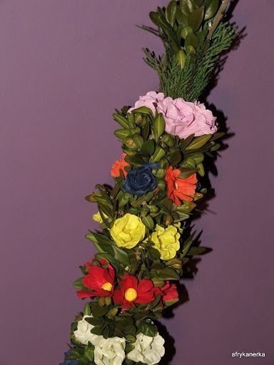 Kwiaty z bibuły - palma wielkanocna
