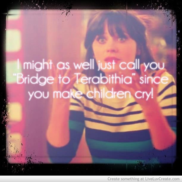 New Girl Quotes- didn't she play in bridge to terabithia? Lol.