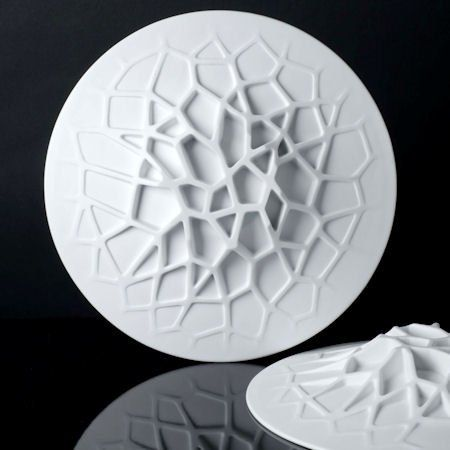 "Plate ""Structure"" by Pierre Tachon for the ""Jules Verne"" restaurant (Alain Ducasse)"