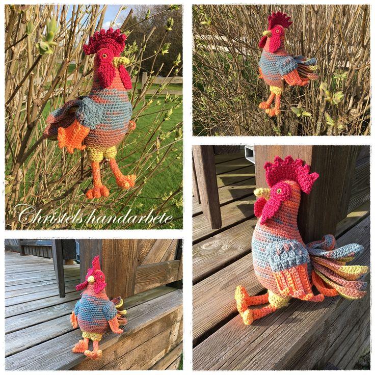 Crochet rooster, virkad tupp
