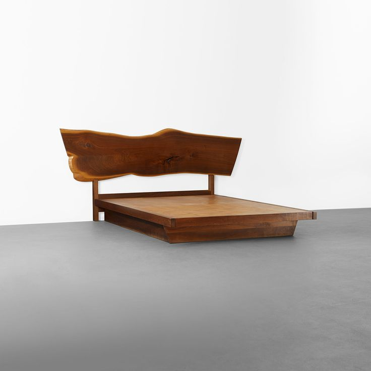 106: George Nakashima / Plank headboard and platform bed < Design, 17 October 2013 < Auctions | Wright