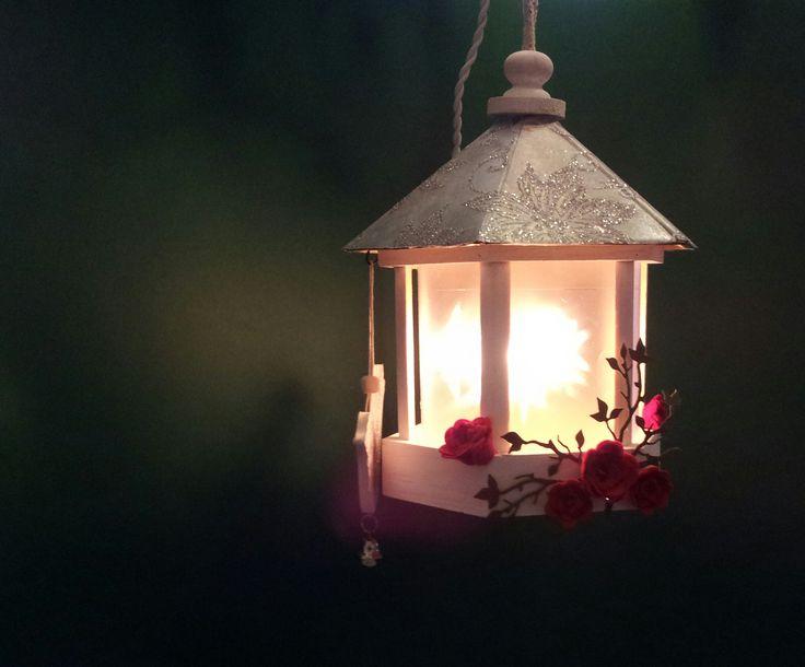 kerst lantaarn met sterren folie