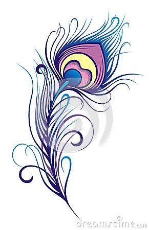 Стилизованное перо павлина