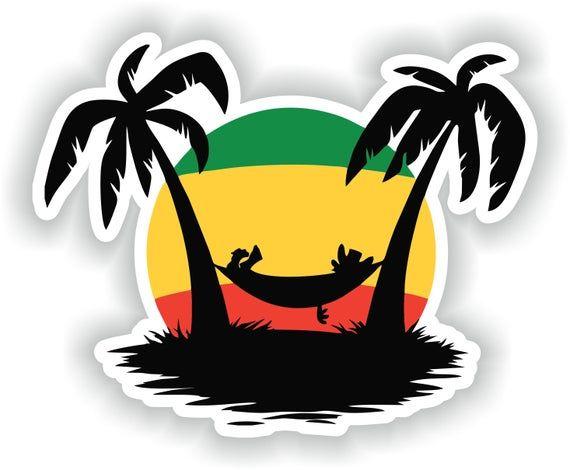 Rastafari Flag Sticker Weatherproof Vinyl Rastafarian Flag Stickers