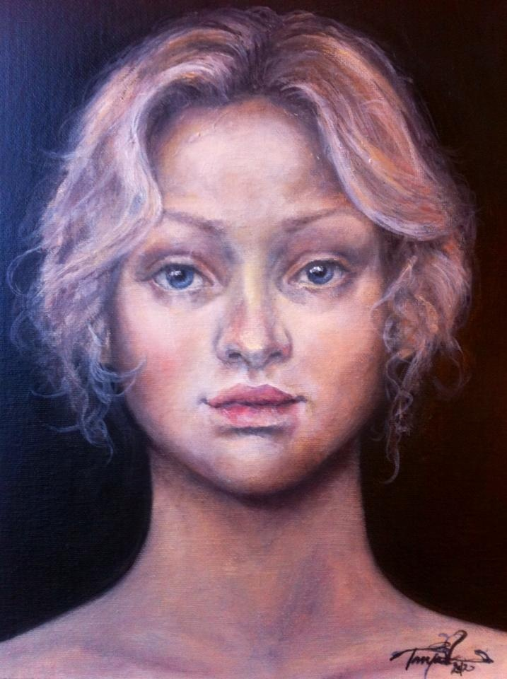 """I wonder"" artwork by Tanja Vean  Oil on canvas, A3"