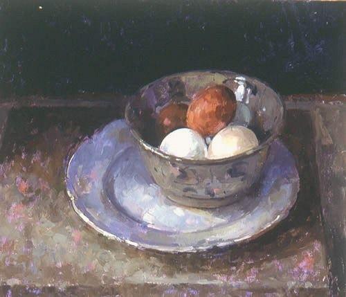 Five Eggs - Pamela Kay 21st C: Fresh Eggs, Eggs 21St, Life Paintings, Still Life, Life Art, 21St Century, Life Brushstrok, 21 Century, Art Century