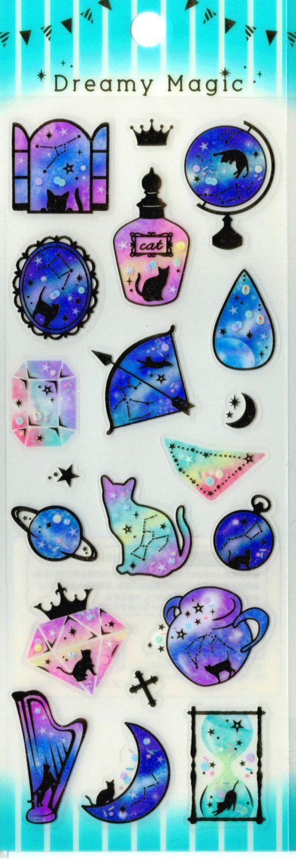 Kawaii Japan Sticker Sheet Assort Dreamy Magic Series: by mautio