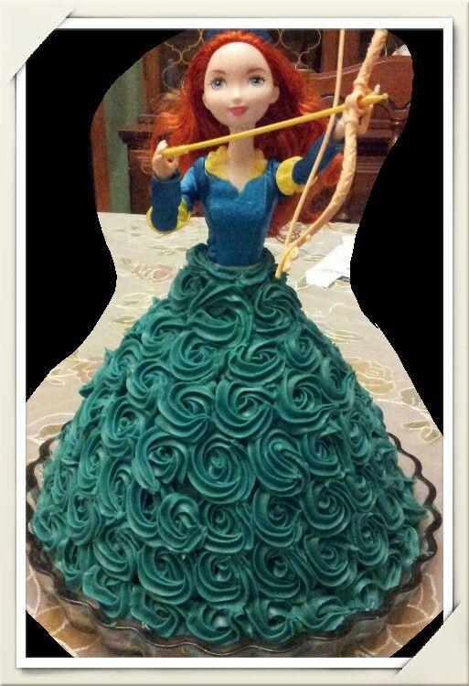 Merida Brave Rosett doll cake
